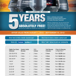 5 Years of Yamaha Engine Warranty ABSOLUTELY FREE! Ends soon!