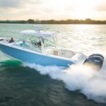 The brand new Cobia Boats 33-foot Dual Console, the 330 DC