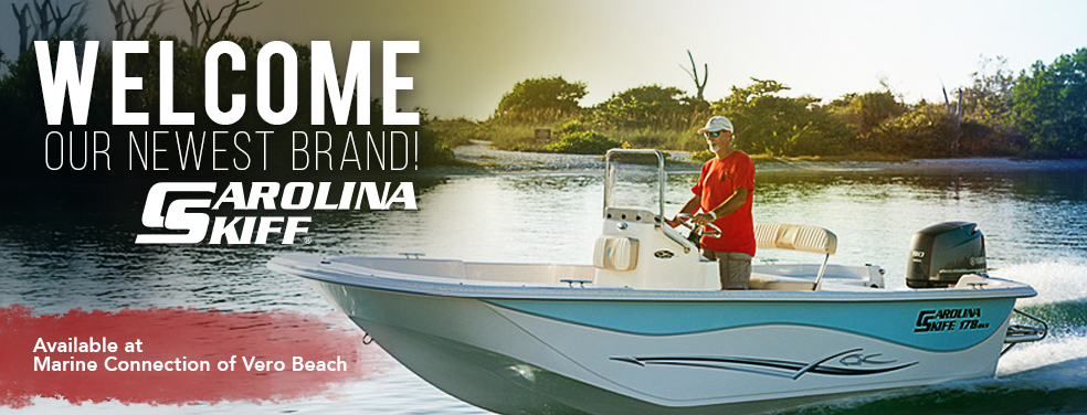 Our newest brand Carolina Skiff available at Marine Connection of Vero Beach!