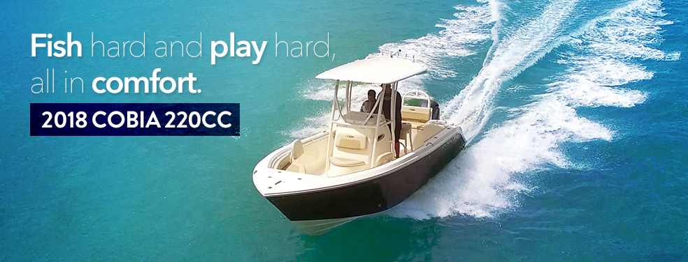 The new 2018 Cobia 301 CC is available at Marine Connection West Palm Beach Miami Vero Beach!